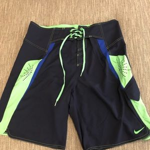 Nike swimming trunks worn once